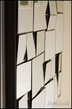 Diy Mirror Art! Soo cool and looks expensive! There's one almost exactly like this at ZGallerie