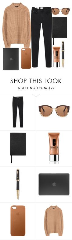 """Don't count the days, Make the days count."" by xilahax ❤ liked on Polyvore featuring Acne Studios, Marni, Smythson, Clinique, Parker, Incase, Apple and The Row"