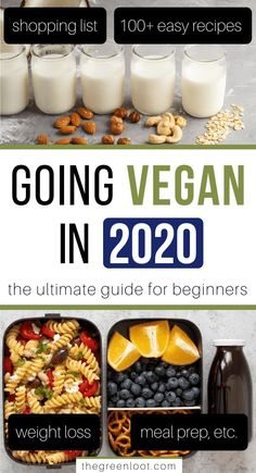 Going Vegan in 2019 – The Ultimate Guide for Beginners Have you decided to Go Vegan in Here's an awesome, beginner-friendly guide with helpful tips to help you transition smoothly into this lifestyle. Vegan Meal Plans, Vegan Meal Prep, Vegan Foods, Vegan Dishes, Vegan Meals, Paleo Diet, Vegan Desserts, Plant Based Diet, Plant Based Recipes