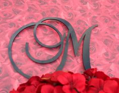love monogram cake toppers :)