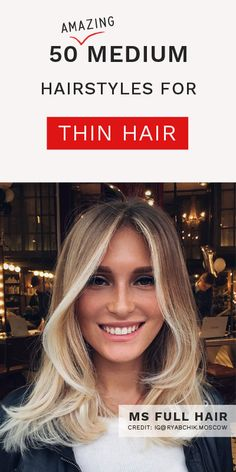 16 Best Medium Length Hairstyles For Thin Hair images in 2019