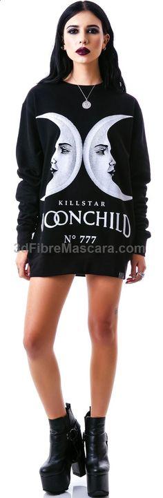 Kill Star Moon Child Sweatshirt | Dolls Kill #latex #sexy #ladies #women #latexskirt #latexdominate #latexboss #shiny #fashion #latexshopping #buylatex #skirts