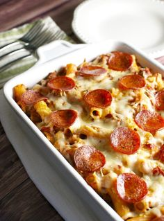 Meat Lover Pizza Casserole 1
