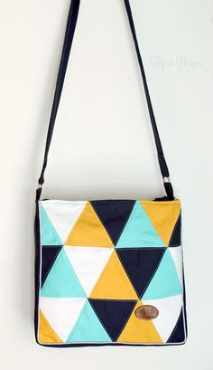 traingle tote bag - Jill please make this for me. In these exact colours. Thanks.