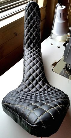 Upholstered Chopper Seat by SanFilippoLeather on Etsy
