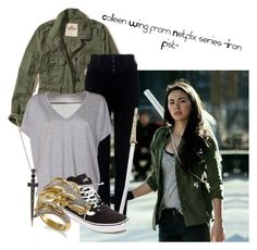 """Colleen Wing- Iron Fist series"" by claudialogan ❤ liked on Polyvore featuring Hollister Co., Citizens of Humanity, Acne Studios, Vans and Bee Goddess"