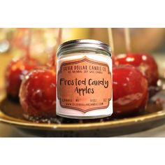 Fall Decor 8oz Candy Apple Scented Candle, Fall Decor, Mason Jar... ($12) ❤ liked on Polyvore featuring home, home decor, candles & candleholders, fragrance candles, candy candles, apple home decor, apple scented candles and candy scented candles
