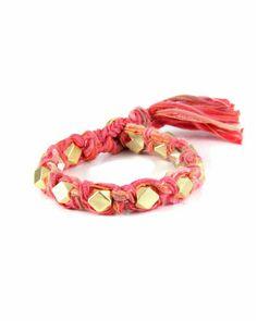 Salmon Vintage Ribbon Bracelet - JewelMint