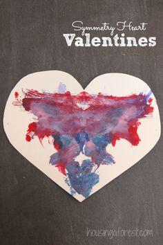 Valentine Symmetry Heart ~ Simple art project for kids