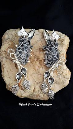 orecchini soutache foglie Soutache Earrings, Handmade Earrings, Hand Embroidered, Soutache Jewelry, Handmade from Italy di ManuJewelsEmbroidery su Etsy