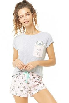 Shop Forever collection of PJ sets. Matching PJ sets are the epitome of classy loungewear. Find comfy fabrics such as satin, terry, flannel + more! Get your self a PJ set and sleep in style! Lazy Day Outfits, Kids Outfits Girls, Girl Outfits, Cute Outfits, Cozy Pajamas, Kids Pajamas, Forever 21 Pajamas, Cute Pjs, Gymnastics Outfits