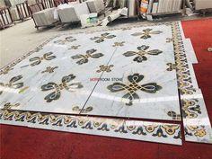 square shape marble medallion floor