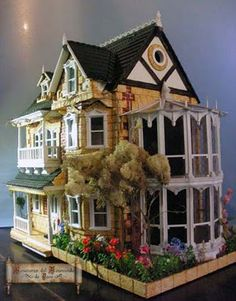 My dream house. Miniature Rooms, Miniature Houses, Miniature Furniture, Doll Furniture, Dollhouse Furniture, Fairy Houses, Play Houses, Mini Houses, Dollhouse Dolls