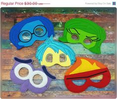 ON SALE Feelings Mask Set Inspired By Inside Out  by 6gEmbroidery