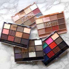Some call these the the dupes for viseart shadow palettes Now available with roses collection.  SHOP AT - http://www.ikatehouse.com/beauty-treats.html