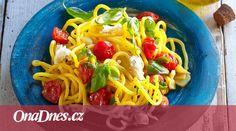 Uvařte si k večeři vynikající středomořské špagety. Mozzarella, Spaghetti, Ethnic Recipes, Food, Essen, Meals, Yemek, Noodle, Eten