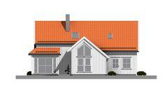 Peiskos er et moderne ferdighus hvor kjøkkenet er plassert i midten, der det hører hjemme. Huset gir også mange muligheter med sine fem soverom.