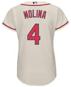 Majestic Women's Yadier Molina St. Louis Cardinals Cool Base Jersey - Ivory/Cream