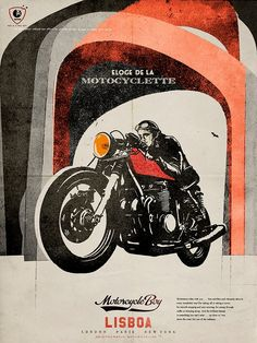 lorenzo eroticolor for Motorcycle Boy Lisboa Motorcycle Logo, Motorcycle Posters, Motorcycle Design, Motos Vintage, Vintage Motorcycles, Art Moto, Pub Vintage, Bobber Custom, Moto Cafe