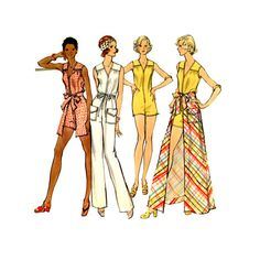 1970s Jumpsuit Vintage Sewing Pattern 36 Bust Vogue by CynicalGirl, $26.00