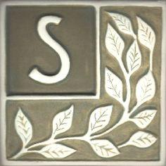 Alphabet Tile Letter S , Alphabet Letter Tiles, Mission Tiles