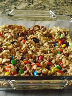 Healthy sweet and salty rice krispie treats