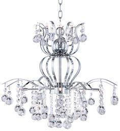 Possini Euro Crystal Crown 12-Light Contemporary Chandelier   55DowningStreet.com