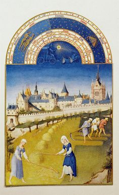Les Très Riches Heures manuscript illuminations by the Limbourg Brothers  circa 1411/13-1416