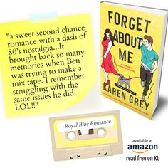 """FORGET ABOUT ME: a nostalgic romantic comedy """"Forget About Me is the first book I've read by Karen Grey, and I quite enjoyed it! It is lighthearted and fun, and hits all the marks for a quality second-chance romance."""" #bookreview #bookreviewblog #blogreview #bookbubreview #goodreadsreview #recommended #recommendedreading #reviews #romanticcomedy #romance #romancereads #alwaysreading #Availablenow in #ebook & #paperback Read FREE on #KU Book Club Books, New Books, Fun Walk, Book Review Blogs, Classic Books, Free Reading, Audio Books, Comedy"""