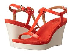 Calvin Klein Calvin Klein  Jiselle Vermillion Patent Womens Wedge Shoes for 69.99 at Im in!