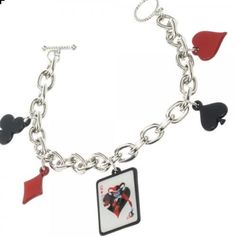DC Comics Harley Quinn High Quality 5 Charm Bracelet Enamel Metal Licensed