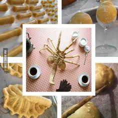 Aliens Facehugger sugar cookies...