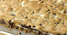 Heat Oven to 350: Cheesecake Chocolate Chip Cookie Bars