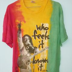 Vintage Bob Marley 90s multi colour still in perfect condition... Discount 15% Keyword 'KG' hurry!