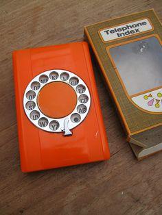 Telephone index vintage