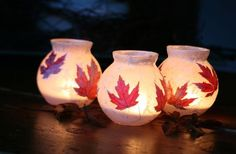 Pretty Fall Candles
