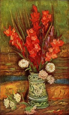 Vincent van Gogh. Vase with Red Gladioli. Paris: Summer 1886. Private collection.