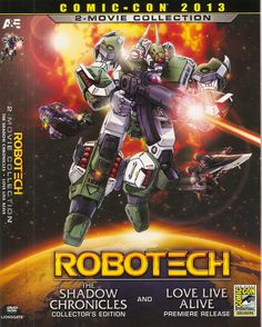 Robotech - 2 movie collection Comic-Con cover 2013 - The Shadow Chronicles and Love Live Alive