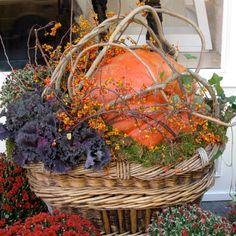 PUMPKIN BASKET – LadybugWreaths.com   Ladybug Wreaths by Nancy ...