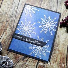 Karten-Kunst » Frohe Weihnachten Schneeflocken
