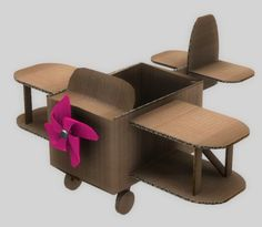 """This was made in TS and rendered within the game engine, and the shadow maps are NOT baked on. portofondraise: """" A plane I made! I have to clean the top parts of the plane's box a bit, and maybe work on the size a bit more, but it's nearly done! Cardboard Airplane, Cardboard Car, Cardboard Furniture, Cardboard Crafts, Cardboard Playhouse, Airplane Crafts, Diy For Kids, Crafts For Kids, Diy Crafts"""