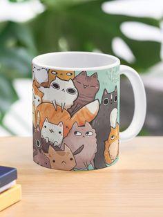 """Pile o cat "" Mug by michelledraws | Redbubble Framed Prints, Canvas Prints, Art Prints, Cat Mug, Custom Mugs, Mug Designs, Art Boards, Classic Style, Iphone Cases"
