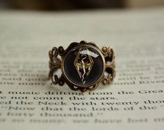 Handmade antique vintage style Skyrim emblem by RingsCrafts, $19.20