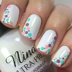 "Here is my ""simple pastel mani"" for week 1 of #wnac2015! I used Nina Ultra Pro ""French White"" Anita's ""Lilac"" acrylic paint Apple Barrel ""Cameo Pink"" acrylic paint Apple Barrel ""Key West"" acrylic paint Dotting tool from eBay #notd #nails #nailart #dotticure #nailsofig #nailstagram #nailsofinstagram #nailartclub #nailartoohlala #nailartofficial #nailitdaily #ignails #instanails #showmethemani #polishjunkie #springnails #pastel"
