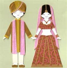 indian paper dolls