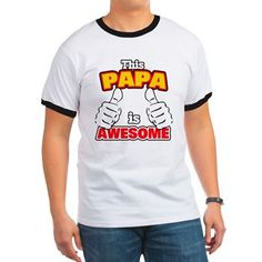 Awesome Dad T Shirt. Awesome dad! Thumbs Up! Funny father humor, great gift for Father's Day, birthday, or any day.