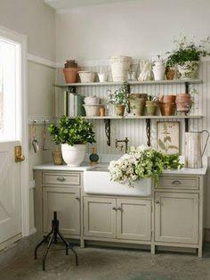 Herb flower area-Oh SO shabby by Debbie Reynolds