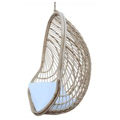 Shop the Bethany Coastal Beach Brown Rattan Hanging Outdoor Egg Chair and other Outdoor Lounge Chairs at Kathy Kuo Home Upholstery Cushions, Upholstered Chairs, Chair Cushions, White Cushions, Nest Chair, Eclectic Chairs, Wood Counter Stools, Round Wood Coffee Table, Beaded Chandelier