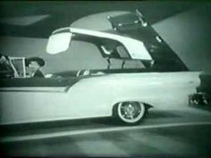 Television commercial for the 1957 Ford Fairlane 500 Skyliner rectractible hardtop featuring Lucille Ball and Desi Arnaz. Ford sponsored the couple's popular. La Ford Fairlane, Concept Cars, I Love Lucy Show, Lucille Ball Desi Arnaz, Lucy And Ricky, Old Commercials, Vintage Tv, Vintage Signs, Cabriolet