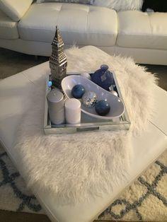 Living Room Ottoman Coffee Table Tray